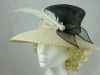  Cream and Black Ascot Hat